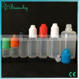 empty dropper bottles for e-liquids mini small plastic bottles with caps wholesale PE BOTTLE
