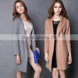 Fast Women's Fall Winter Loose Lapel Long Sleeve Woolen Coat with Belt OEM ODM Type Clothes Factory Manufacturer Guangzhou
