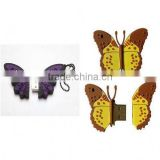 2014 new product wholesale butterfly pen drive free samples made in china