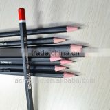 "7"" standard size hexagonal shape matt black coating body graphite HB pencil sharpened with dipped end"