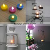 Battery operated multicolor plastic mini led tealight candle for home or home or party decoration