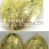 gold plated oval frame locket pendant,can be opened,good quality,passed SGS factory audit