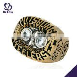 Wholesale customized brass Championship ring 1975 Pittsburgh Steelers Super Bowl World Champions ring