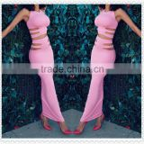 Two pieces fashion club bandage sexy women prom dress