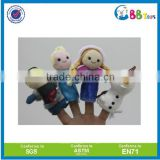 Custom plush frozen doll finger puppets stufeed mini frozen elsa plush doll