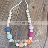 Nursing Necklace Teething color wood beads Necklace Breastfeeding Necklace