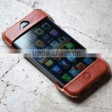 Unique design cell phone elastic waistband pouch cover flexible leather cover for iphone 5