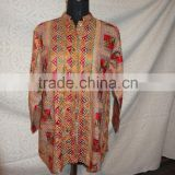 Traditional indian embroidery jackets made of vintage textile