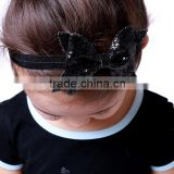 Hot Sale Hair Bands in Stock Satin Bowknot Cute Baby Girl Hairband Baby's Head Band                                                                         Quality Choice