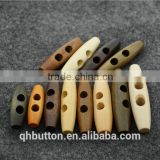 chinese factory direct wood toggle button for garment accessories