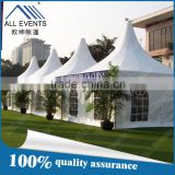 Customized 5x5m pagoda marquee tent with french windows                                                                         Quality Choice