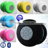 Mini Bathroom Waterproof Speaker, Waterproof Bluetooth Wireless Speaker Handsfree Music Mic Suction Car Shower