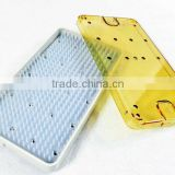 Plastic mini sterilization dental tray-lid/base/silicone mat (P502)