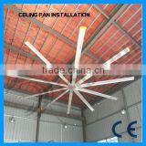 Novelties wholesale china alumium 10 pcs blades 22ft 24ft low speed Industrial ceiling fan