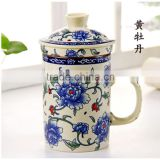 Chinese ceramic cup with handle