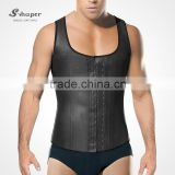 Wholesale 2033 Men`s Latex Waist Trainer Vest 3 Hooks Rubber Waist Cincher