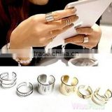 1Set Finger The Knuckle Open Gold Silver Ring Top Over The Midi Tip Finger Above ( 3PCS )