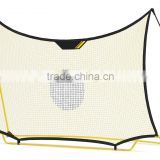 W2m*H1.45m*D100mm white polyester knotless rebound soccer goal net, 4 inches mesh with 420D oxford fabric binding