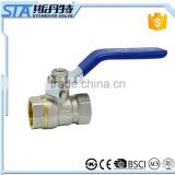 ART.1005 Factory stock brass ball valve price size 3/8'' to 4'' BSP thread Iron handle with CE brass ball valve full bore port