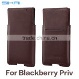 Luxury Anti- scratch NFC Friendly Genuine Leather Protective Shell For Blackberry Priv Accessory Case Skin With Card Slot
