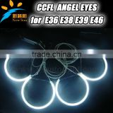 4rings*131mm seimi circle Ccfl angel eyes for BMW E36 E38 E39 E46 Projector ccfl auto headlights with 7colors available