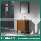 Hot sales 28 inch bathroom vanity with mirror cabinet for renovation homes