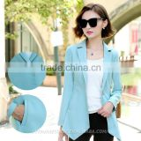 Competitive Customized Details Blue Suit Pant Coat