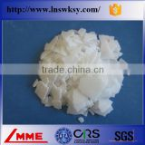 China LMME white anhydrous magnesium chloride flake for fireproof materials addictive/fiber glass tile