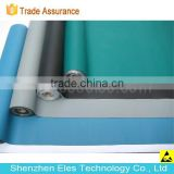 ES14101 glossy/dull blue black green antistatic rubber table mat ESD table mat