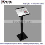 Store plastic photo frame stand display price advertising display and menu for restaurants
