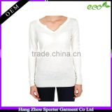 16FZBC07 7 guage breathable women bamboo clothes bamboo cardigan sweaters