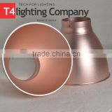 Industrial antique metal copper white pendant light lamp shade