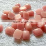 China pink opal rectangle cabochon for bezel jewelry