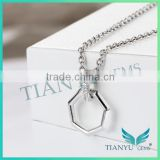925 Sterling Silver Necklace White Moissantie Diamond Pendants Charms