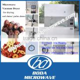 Industrial microwave vacuum red dates slices drying machine /vacuum microwave palm date dehydrator