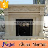 indoor used egypt beige marble fireplace for sale NTMF-F813S