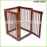 Wood Pet Gate Wholesale Dog Fence Homex_BSCI Factory