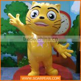 Amusement park equipment fiberglass cartoon animal cat statue