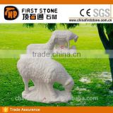 MAB604 White Marble Garden Ornaments Sheep Statue