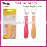 Factory sale BPA free newborn baby spoon silicone baby spoon