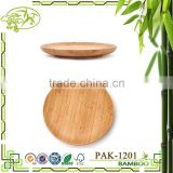 Aonong round bamboo coaster/ Customized cup holder plate