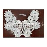Insert Collar Crochet Flower Applique For Velvet Doll Dress SGS / INTERTEK