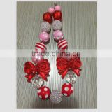 valentines day baby Beads Children Girls chunky bubblegum necklace wholesale cheap chunky necklace