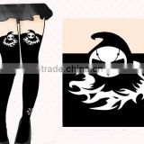 Overwatch Cartoon Knee-high Socks Hot Sale Cosplay Black Anime Silk Stockings