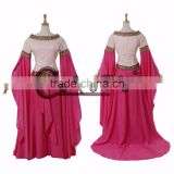 pink medieval dress medieval dress cosplay costume Victorian Ball Gown cosplay costume women's fancy dress custom made