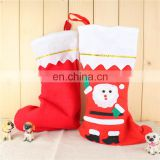 Santa Christmas Stocking Set Sock Hanger Christmas Gift Bag Case