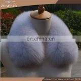 Fashion Real Fox Fur Collar /Dyed Fox Fur Trim For Garment