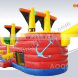 AOQI commercial inflatable pirate boat for sale with free EN14960 certificate