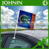 Cheap Promotional Polyester Window Custom Car Flag With Plastic Pole