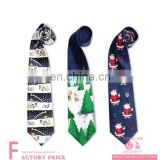 Latest Design Tie For Men Christmas Painting Fabric Floral Tie